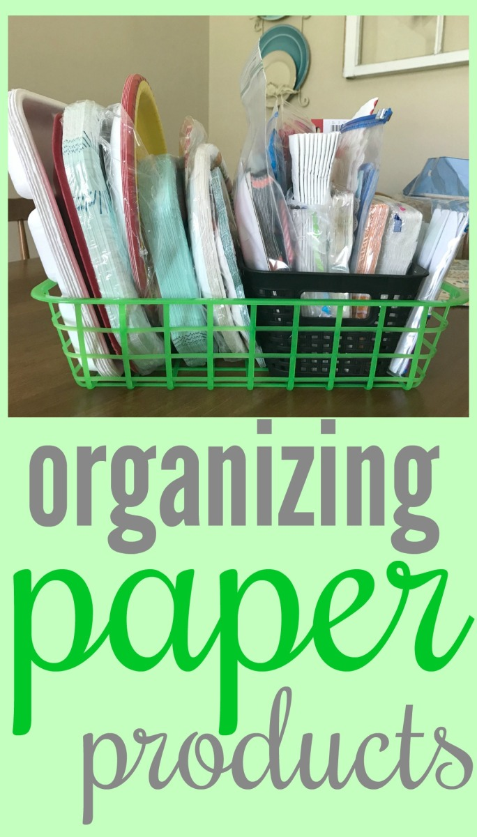 Organizing Paper Products Come Home For Comfort