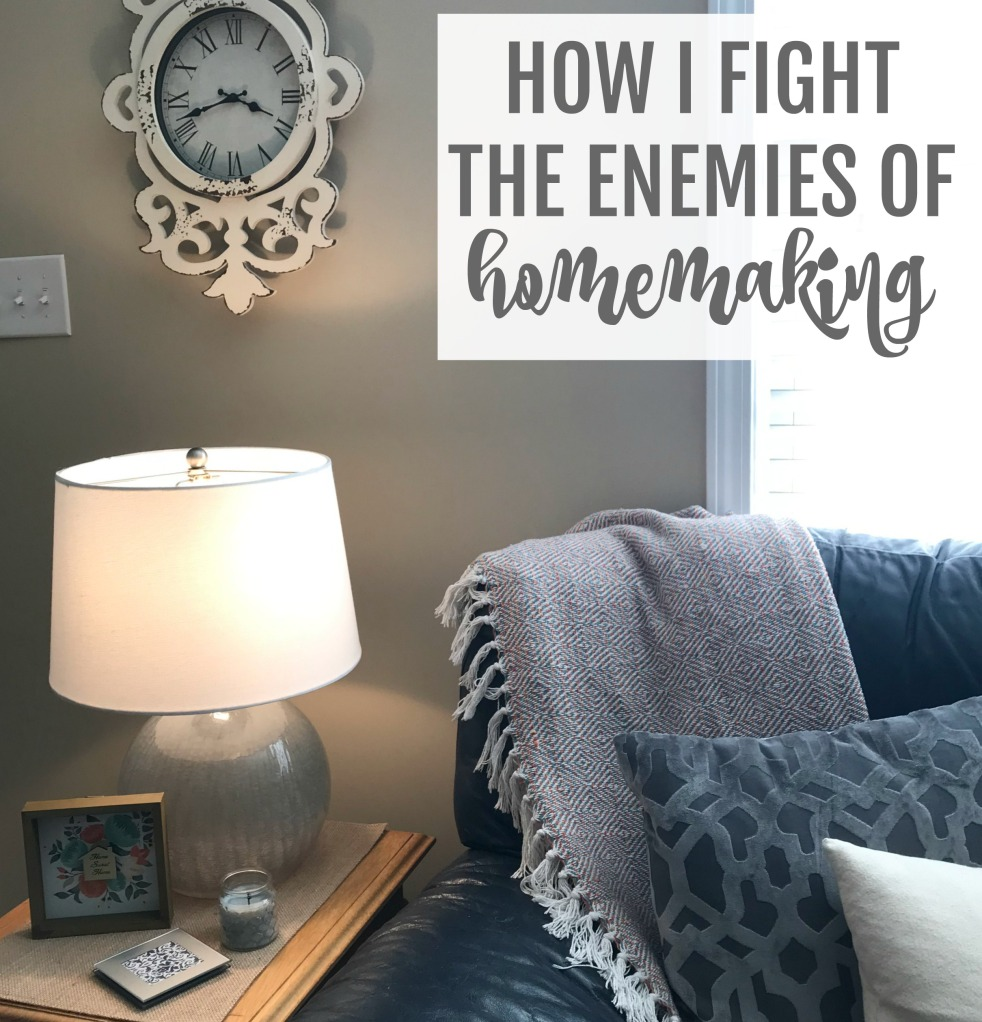 How I fight the enemies of homemaking
