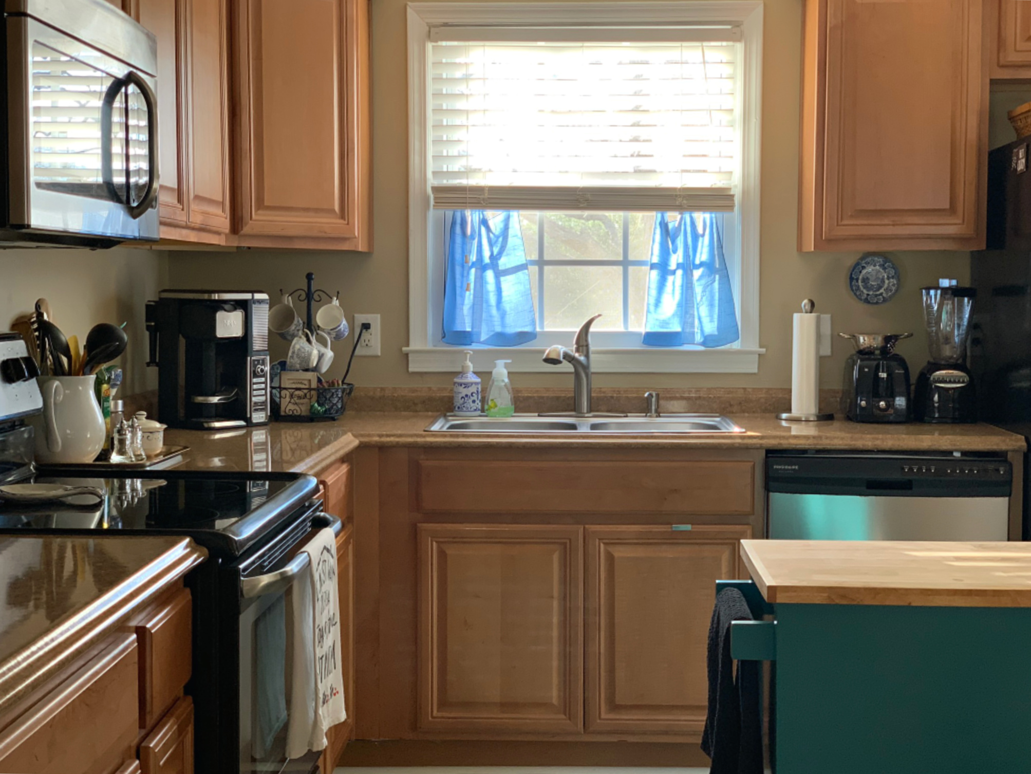 Blue And White Kitchen Update Loving The Home You Have Come For Comfort